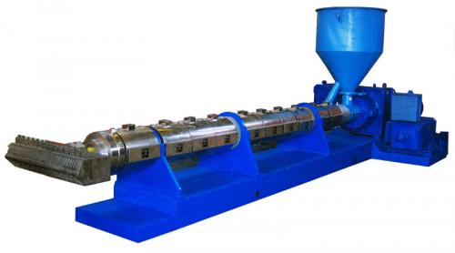 Steel pipe plastic coating extruder